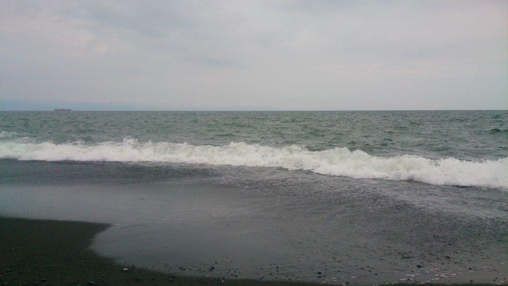 サーフエギング ロッドの位置