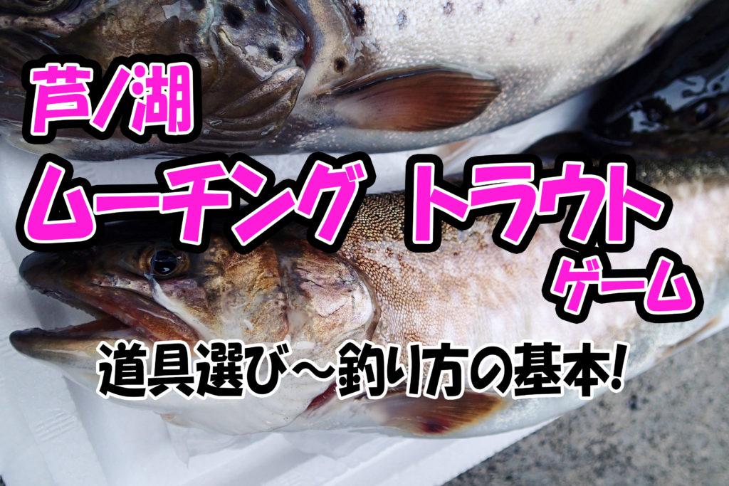【基礎から解説!】芦ノ湖ムーチング(泳がせ)トラウトの釣り方!