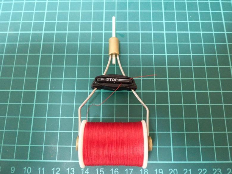 アシストフック自作に使うボビンホルダーとセキ糸