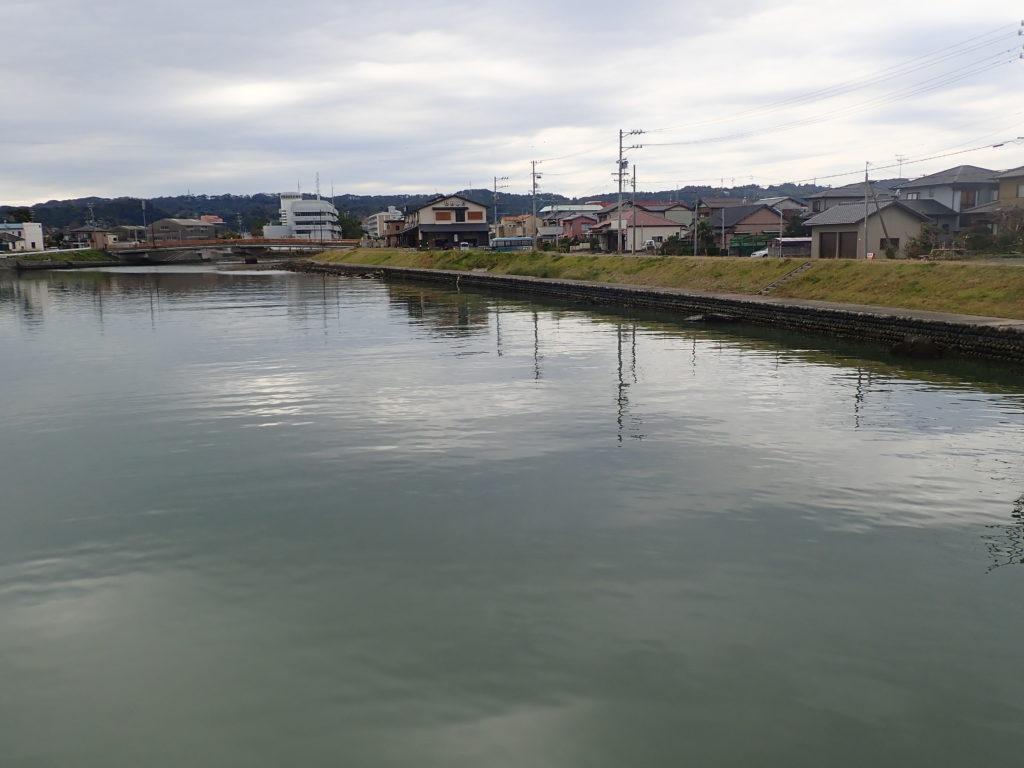 11月の萩間川でハゼ釣り。魚影は薄いも良型連打!