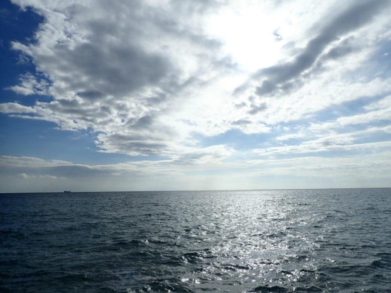 日中のヒラメ釣り場
