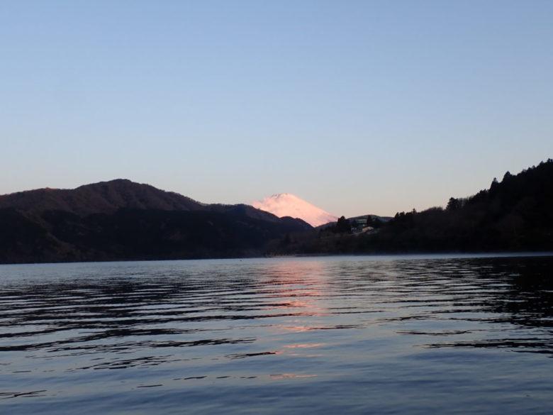 芦ノ湖 ウェーディング