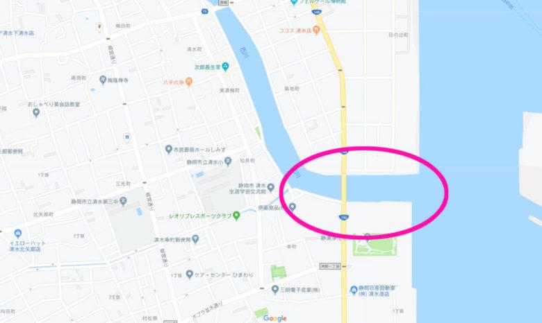 巴川 河口 釣り場