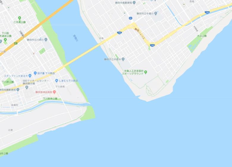安倍川河口 釣り場