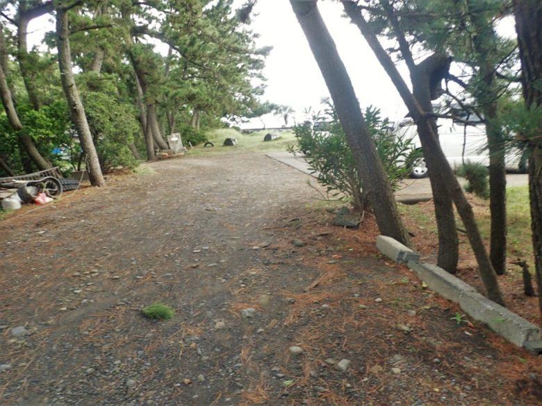 和田浜 駐車スペース