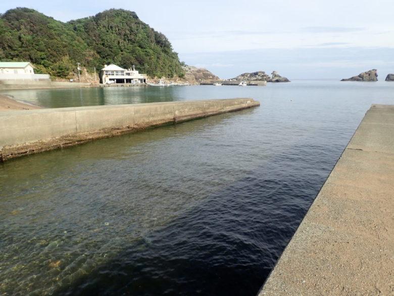 雲見港 河口 太田川