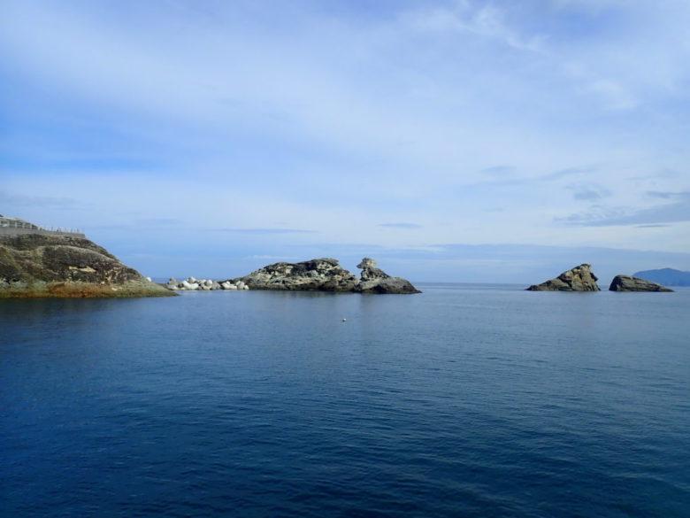 雲見港 釣り場風景