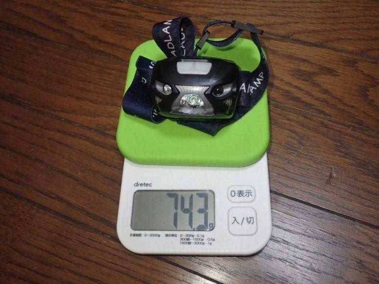 amazon LEDライト 重量