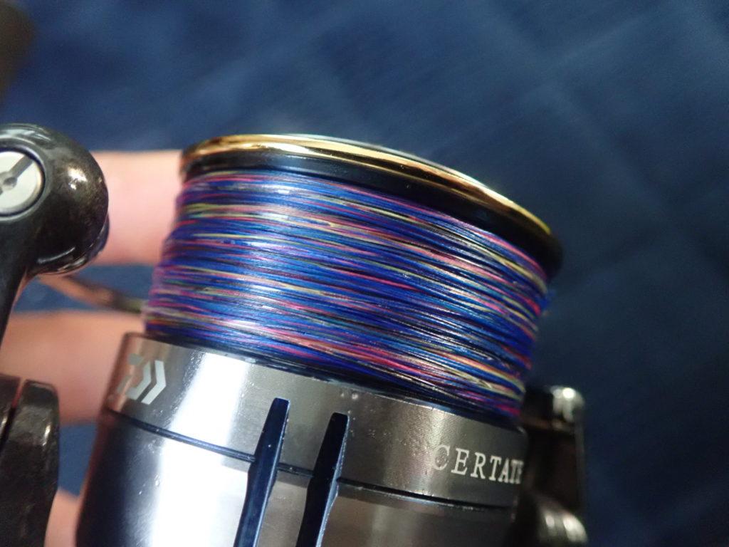 ショアジギング ライン 糸巻き量 何メートル