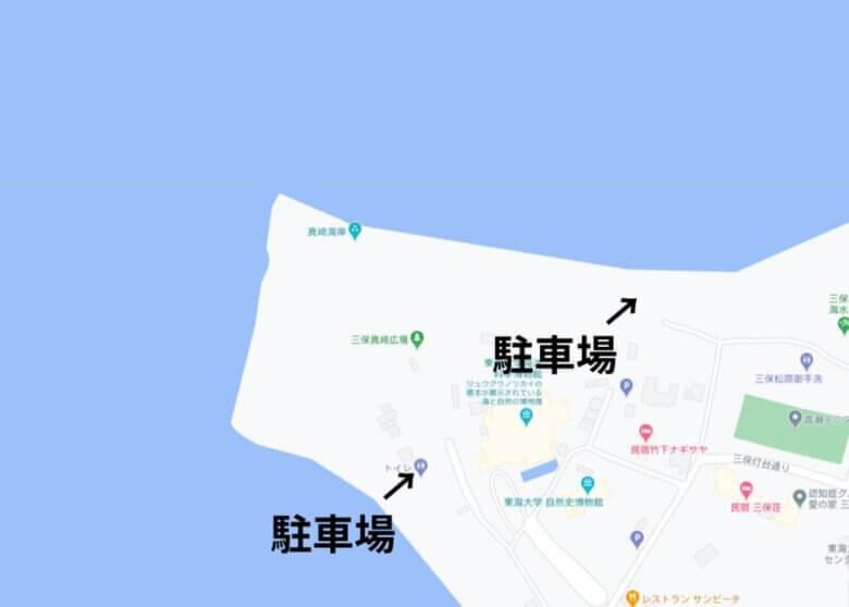 真崎海岸 駐車場