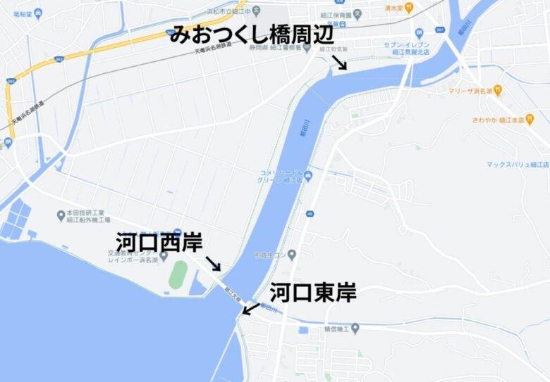 都田川の釣り場 ポイント