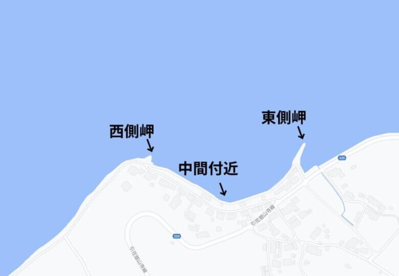 伊奈 伊目 釣り場の水深 地形