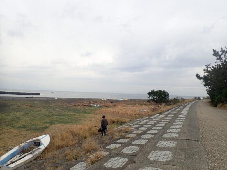 離岸堤前 釣り場