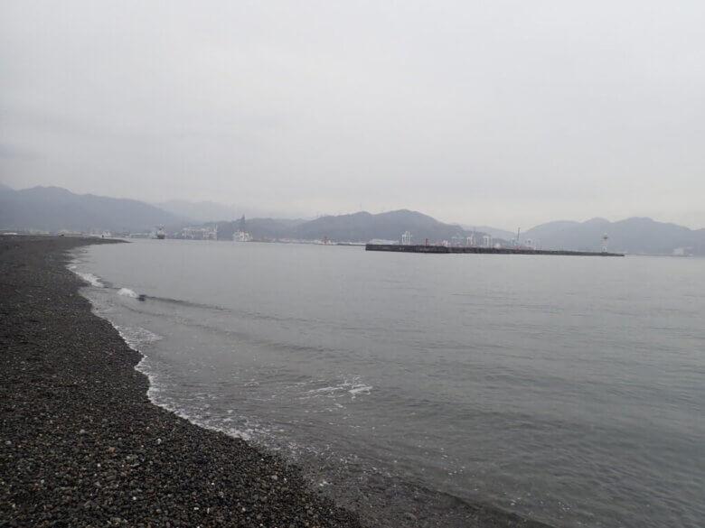 離岸堤 東側