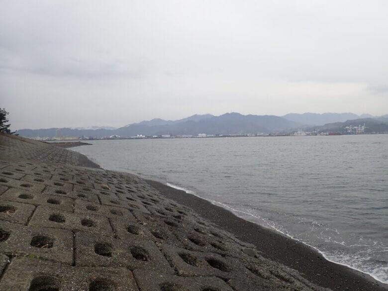 三保 真崎海岸 釣り場 風景