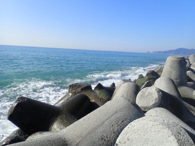 久能海岸 テトラ