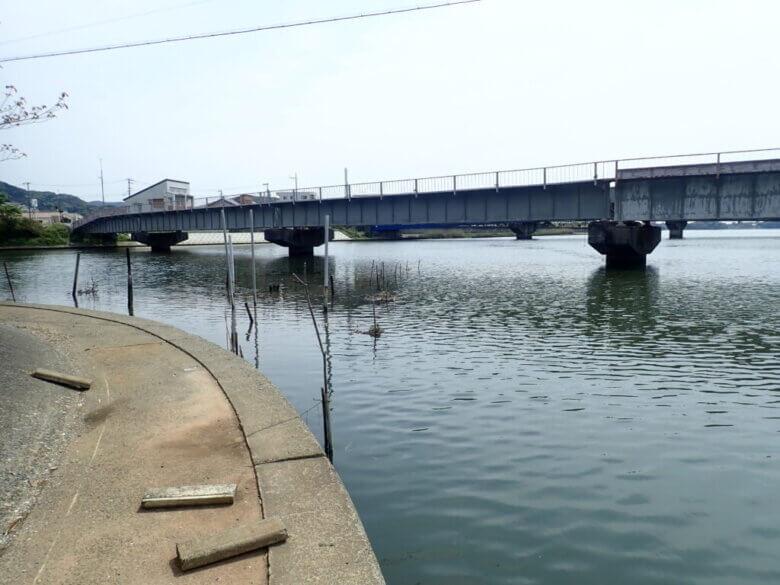 宇利山川 日比沢川 合流