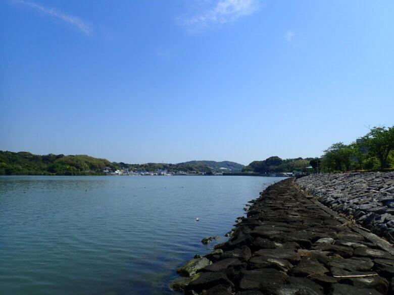 内浦 釣り場風景
