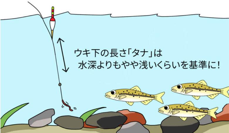 ハヤ釣り 釣り方