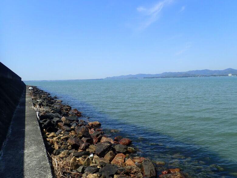 舘山寺 サンビーチ 釣り場風景