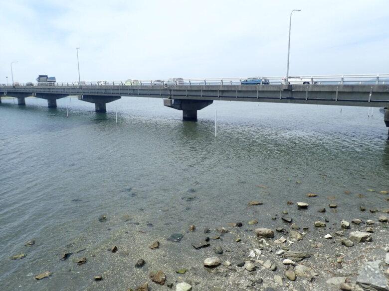 雄踏大橋南側 釣り場