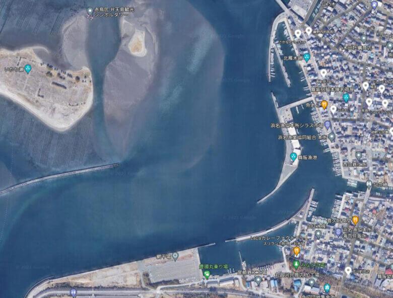舞阪漁港 釣り場 ポイント