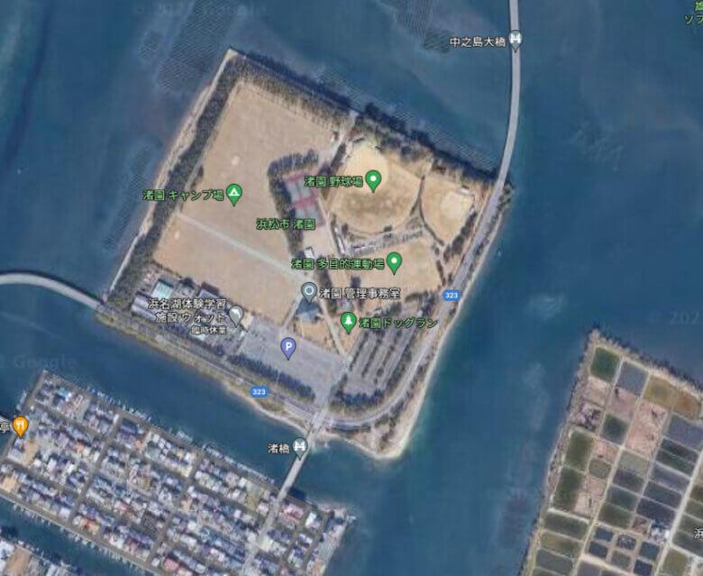 浜名湖 渚園 1番ミオ 釣り場 ポイント